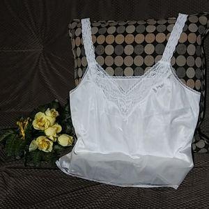 Vanity Fair white camisole (size 38/44)